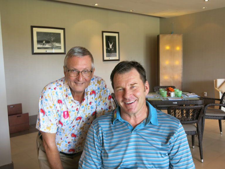 Editor with Sir Nick Faldo