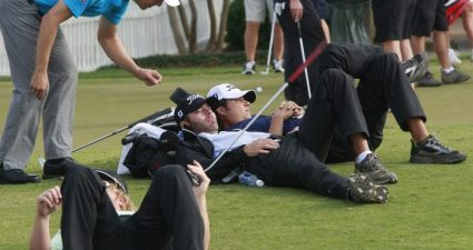 European Tour tee box snooze!